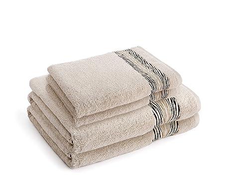 Naomi Campbell Collection - Juego de toallas (4 piezas, 2 toallas de mano y