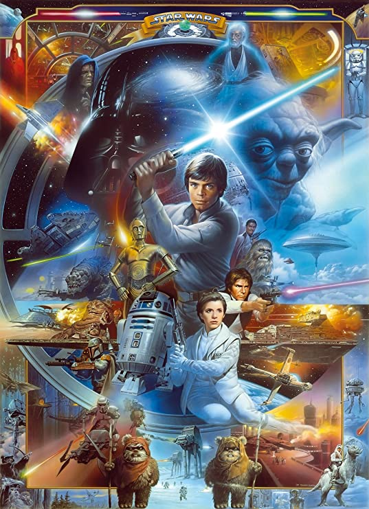 Star Wars Luke Skywalker Collage Disney Papel Pintado