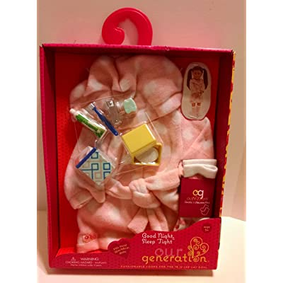 """Our Generation Good Night, Sleep Tight Robe 18"""" Doll Clothes & Accessories: Toys & Games"""