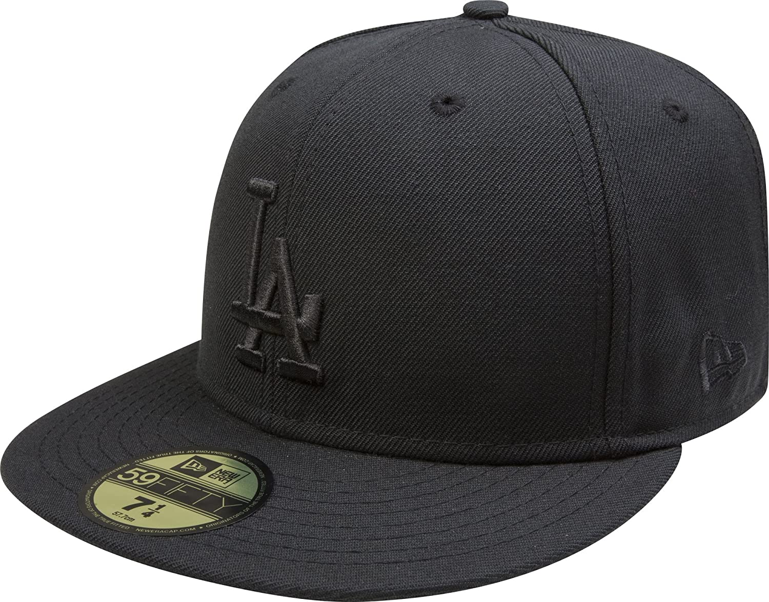 wholesale dealer fd741 7bc64 Amazon.com   New Era MLB Los Angeles Dodgers Black on Black 59FIFTY Fitted  Cap, 7 3 4   Sports Fan Baseball Caps   Sports   Outdoors