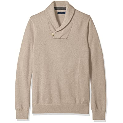 Nautica Men's Button Shawl-Collar Sweater at Men's Clothing store