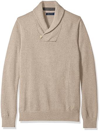 0c3a9d9c373f Nautica Men s Button Shawl-Collar Sweater at Amazon Men s Clothing ...
