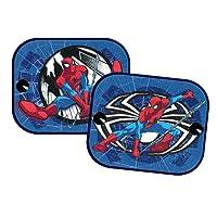 Spider-Man SMSAA011 'Spiderman' Sonnenschutz, ULTIMATE', bedruckt 36x44 cm, Blau, anzahl 2
