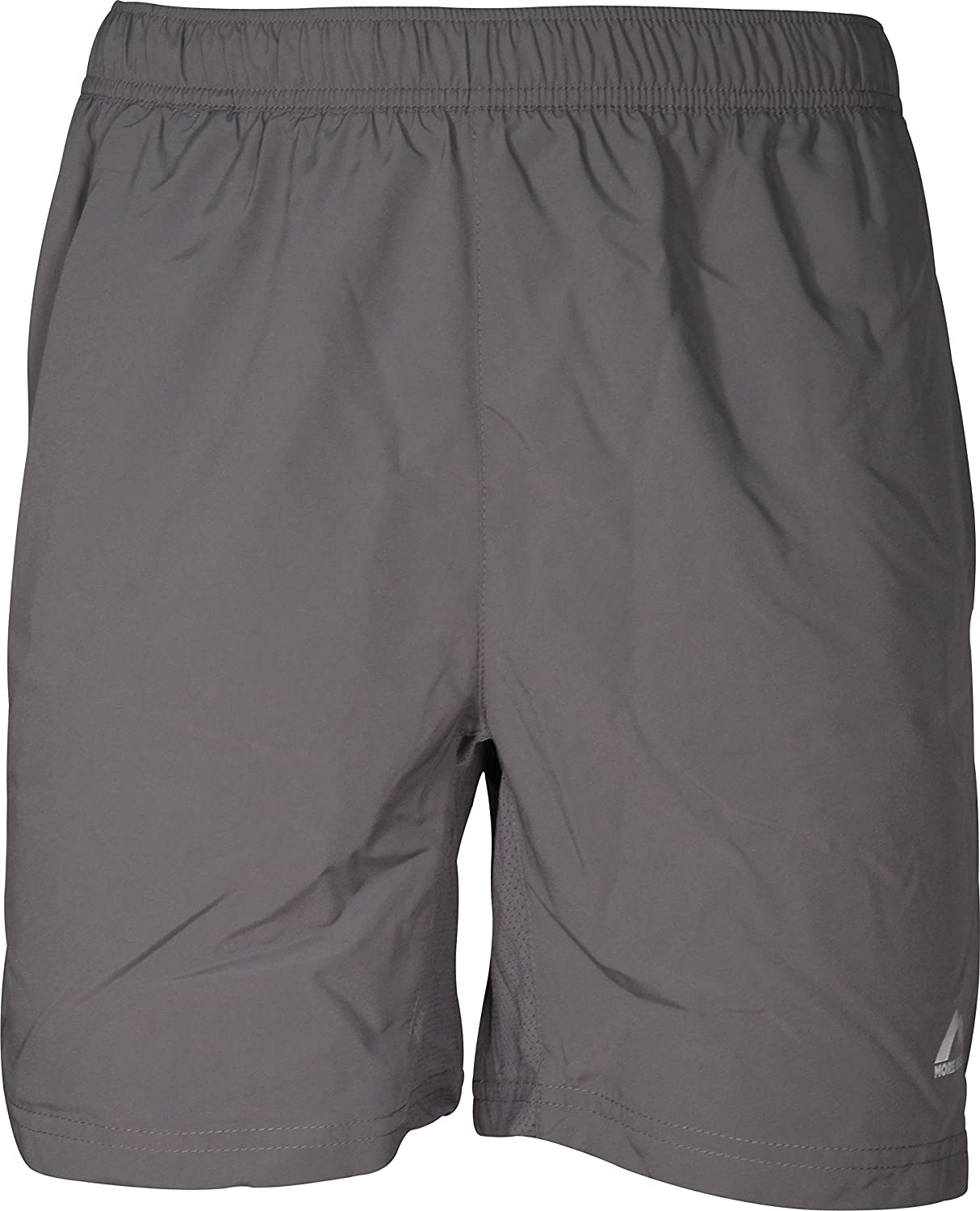 More Mile Aspire 5 Inch Mens Running Shorts Grey Gym Sports Training Workout