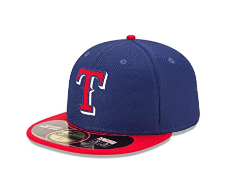96e41f59a2d Amazon.com   MLB Texas Rangers Diamond Era 59Fifty Baseball Cap ...