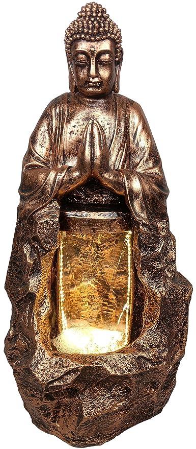 Kaarigari Artifacts Namaskar Lord Buddha Water Fountain for Home D