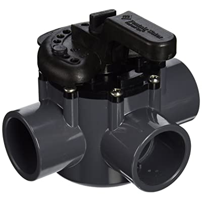 Pentair 263037 3-Way PVC 1-1/2 inch (2 inch slip outside) Pool And Spa Diverter Valve : Swimming Pool Filter Valves : Garden & Outdoor
