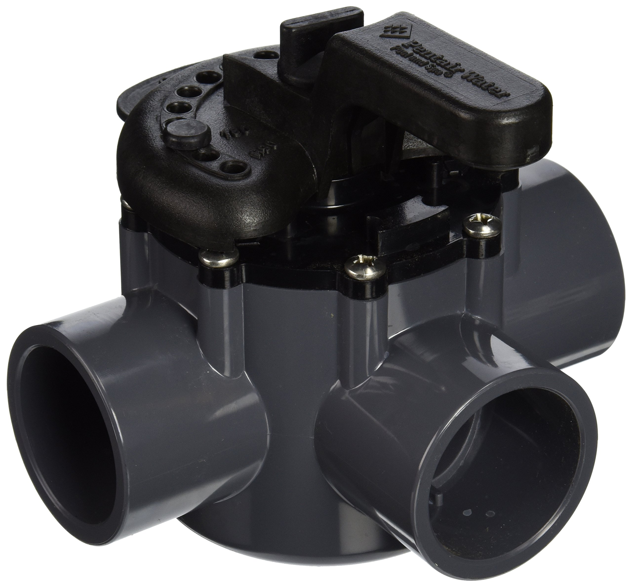 Pentair 263037 3-Way PVC 1-1/2 inch (2 inch slip outside) Pool And Spa Diverter Valve by Pentair