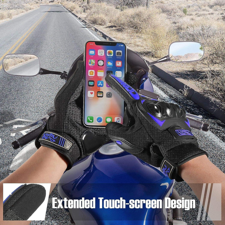 COFIT Motorcycle Gloves Full Finger Touchscreen Gloves for Motorbike Racing,