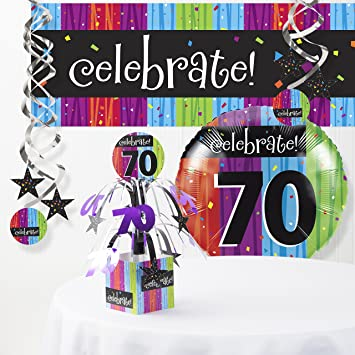 Image Unavailable Not Available For Color Milestone Celebrations 70th Birthday Decorations Kit