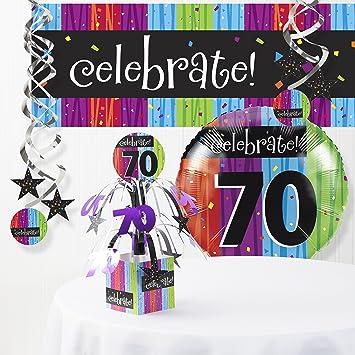 Amazon Milestone Celebrations 70th Birthday Decorations Kit