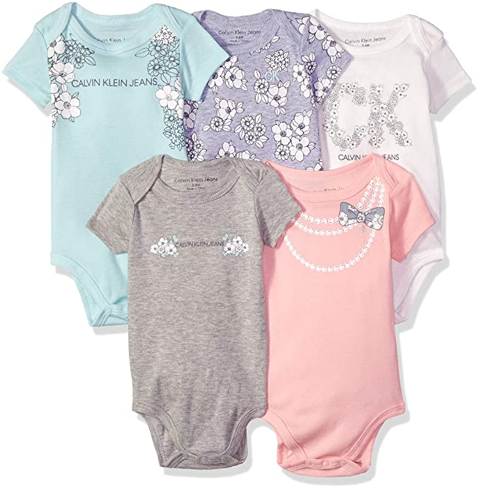 Amazon.com: Calvin Klein - Body para bebé (5 piezas): Clothing
