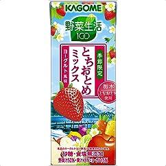 【ドリンクの新商品】カゴメ 野菜生活100 とちおとめミックス~ヨーグルト風味~ 200ml×24本