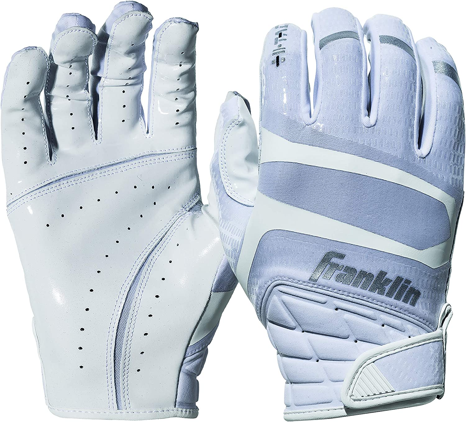 Franklin Sports Football Receiver Gloves Extra-Grip Premium Football Gloves for All Ages Adult and Youth Football Receiver Gloves