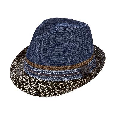 413ddb5cb717ad Santana Two Tone Braid Pinch Fedora Hat (XL, Navy) at Amazon Men's ...