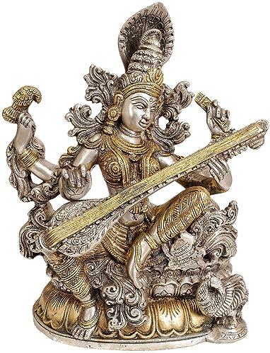 AONE India Hindu God Shiva Dancing Nataraja Brass Statue for Home Temple Mandir 11.5 Inch Cash Envelope Pack of 10