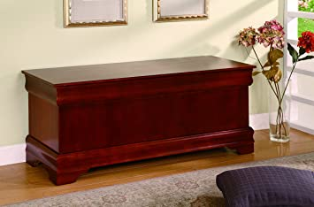 coaster cedar chest cherry