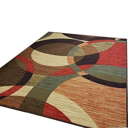 Custom Size Stair Hallway Runner Rug Rubber Back Non Skid Multicolor Tiles