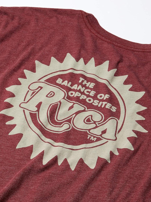 RVCA Mens Sunburst Short Sleeve Crew Neck T-Shirt
