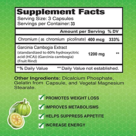 Amazon Com Garcinia Cambogia Extract 60 Hca By Alfa Vitamins