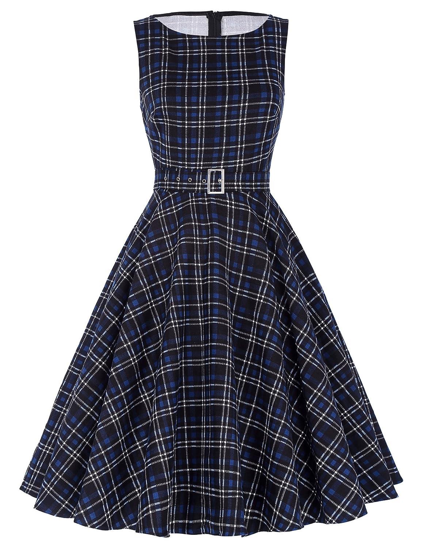 Rockabilly Dresses | Rockabilly Clothing | Viva Las Vegas Belle Poque Vintage Sleeveless Cocktail Dress Belt Evening Party BP02 $29.99 AT vintagedancer.com
