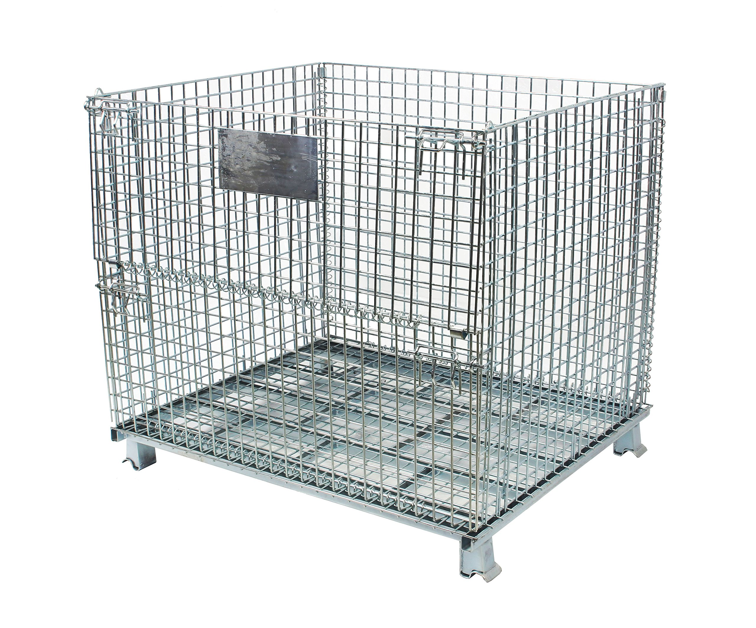 BR Tools FWC-484036 Collapsible Galvanized Wire Mesh Container ( 48 x 40 x 36 Inches)