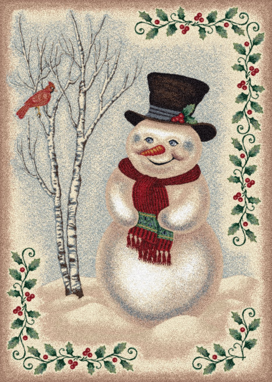 Milliken Winter Snowman Rug from Wayfair!