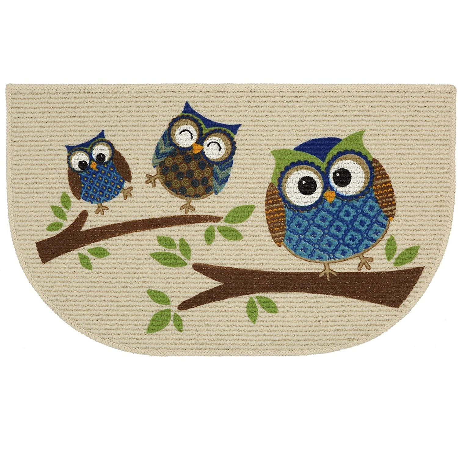 Mainstays Slice Kitchen Rug, Owl Branches, 18 X 30 Inches (1)