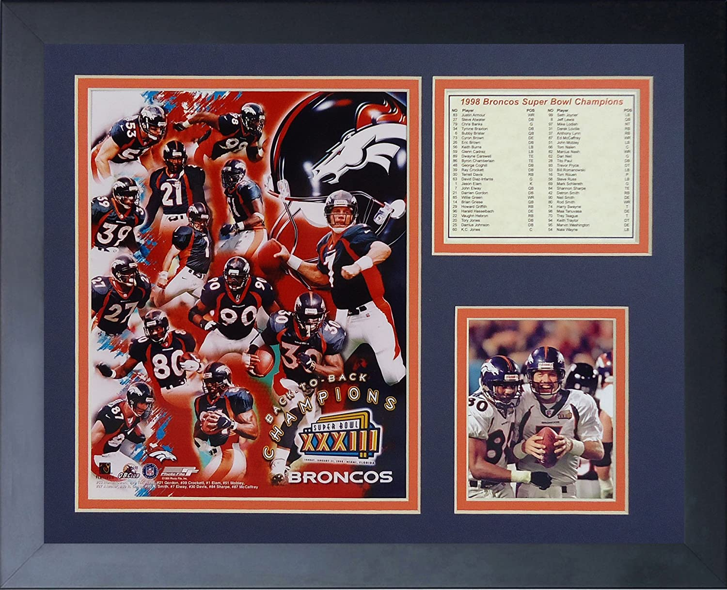 11 x 14-Inch Legends Never Die Peyton Manning Broncos White Framed Photo Collage