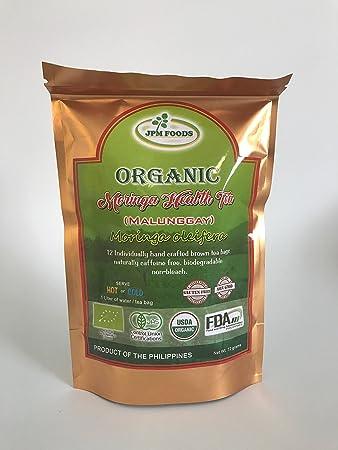 Amazon.com: Té de Moringa orgánico salud con café Rice- 12 ...