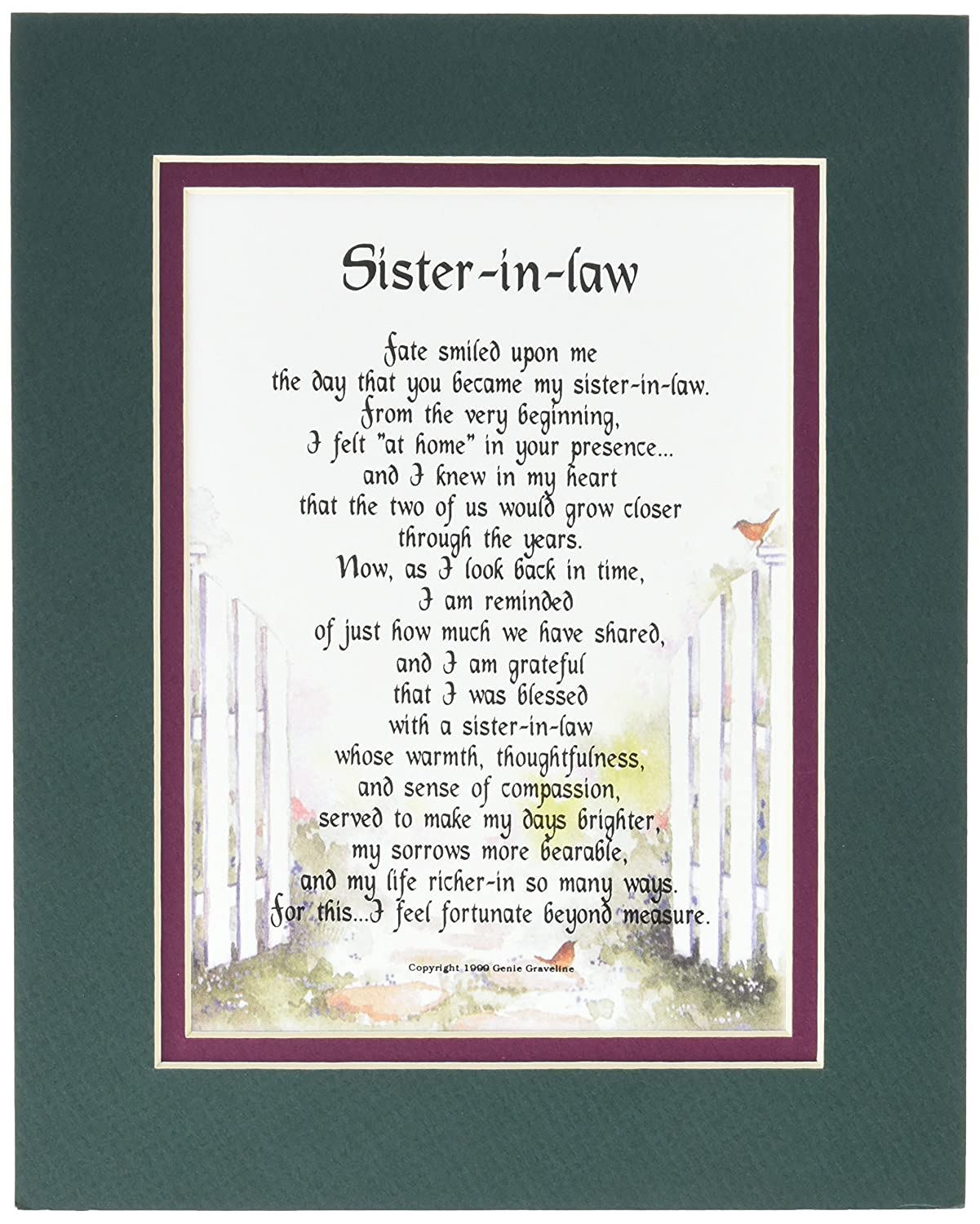 Sister In Law Poems: Funny Law School Gifts &SS43