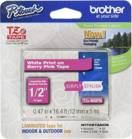 3PK TZe-MQG35 TZeMQP35 Pink//Gold//Green Fit PTouch Cube Brother Label Maker Tape