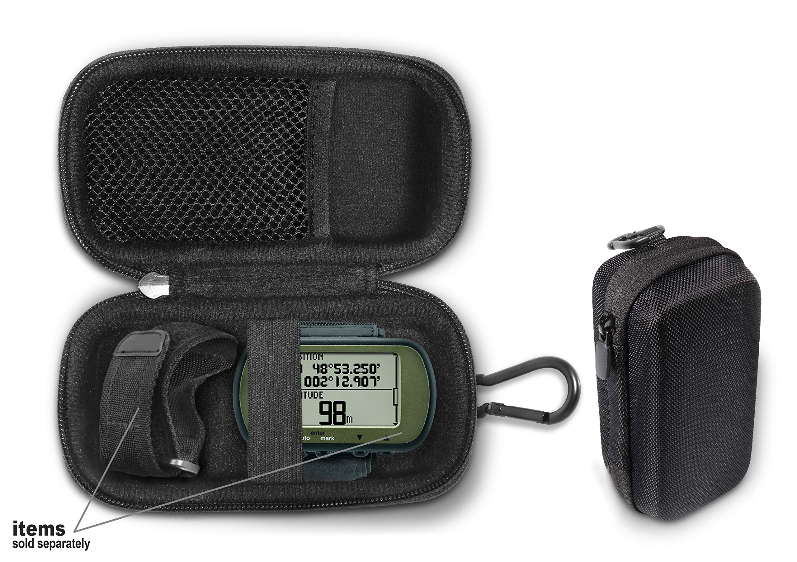 Hiking GPS Case Compatible with Garmin Foretrex 401, 301, 201, 601, 701 Hands-Free GPS, Wrist-Mounted Navigator, Compact and Light Weight Strong case for Excellent Protection and Easy Carrying by CaseSack