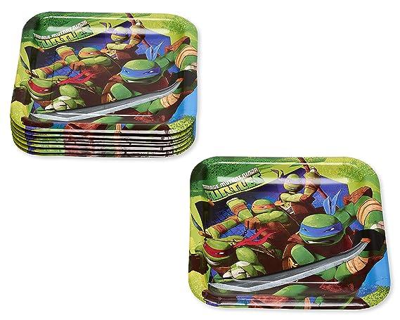 American Greetings Teenage Mutant Ninja Turtles Paper Dinner Plates, 8-Count