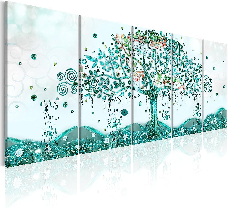 murando - Cuadro en Lienzo Arbol Klimt 225x90 cm Impresión de 5 Piezas Material Tejido no Tejido Impresión Artística Imagen Gráfica Decoracion de Pared Tejido-no Tejido – Abstracto l-A-0009-b-o