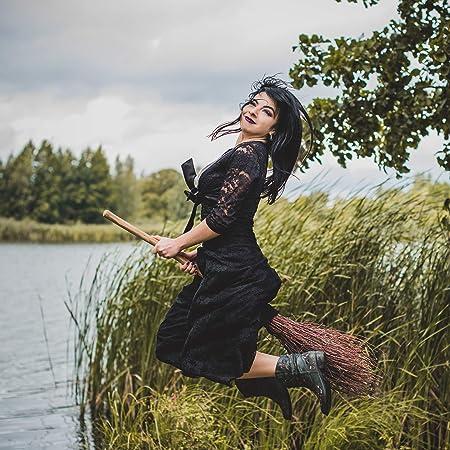 2 x Hexenbesen Kinder Reisigbesen Hexenzubehör Erwachsene Zauberbesen Besen Hexe