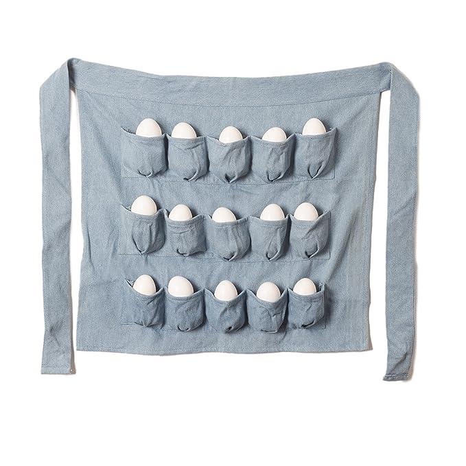 Amazon.com: Denim Chicken Egg Apron, 15 POCKETS! Men and Women Egg ...