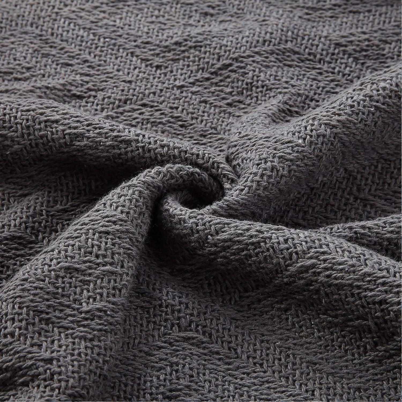 Pack of 2 Amrapur Overseas Allure 100/% Cotton Throw/Diamond Maze Pom Pom Standard Charcoal