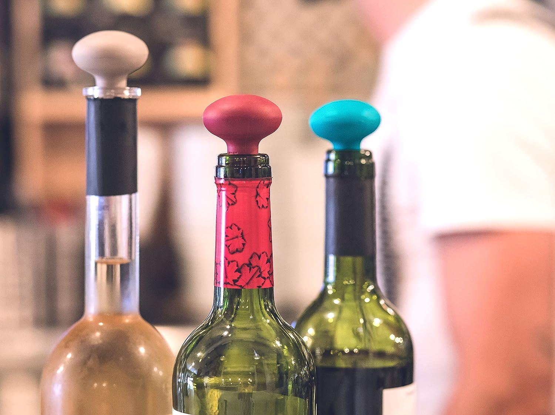 VIGAR Maid Tappo per Bottiglie di Vino 4x4x5.8 cm Grigio