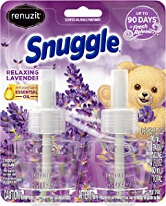 Renuzit Snuggle Scented Oil Refill for Plugin Air Fresheners, Relaxing Lavender, 2 Count