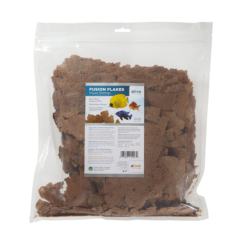 Elive Fusion Flake Mysis Shrimp Bulk Bag, 16 oz