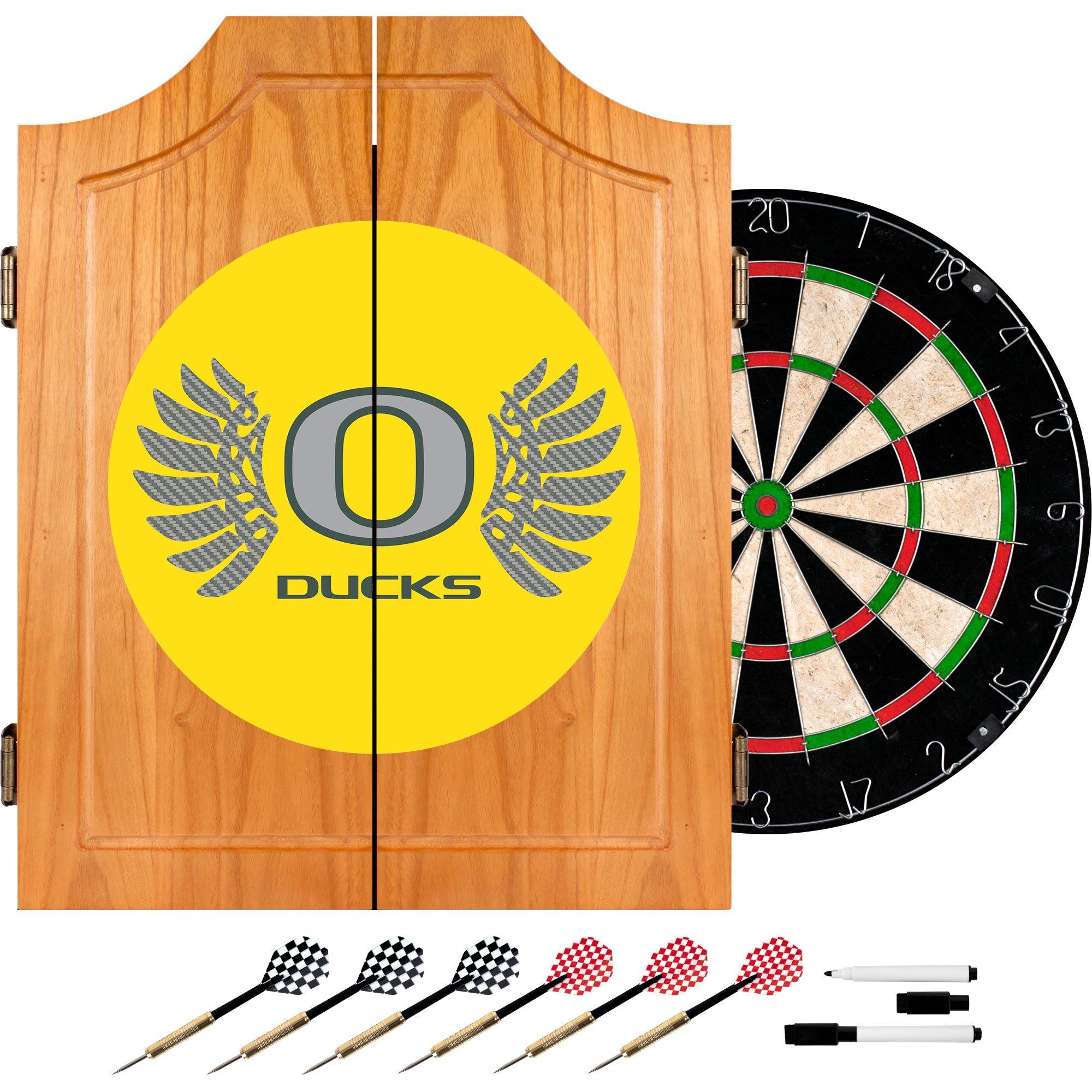 Trademark Gameroom University of Oregon Wood Dart Wings Cabinet Set by Trademark Gameroom
