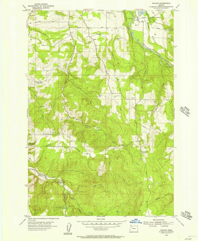 Lyons Oregon Map.Amazon Com Oregon Maps 1955 Wilhoit Or Usgs Historical