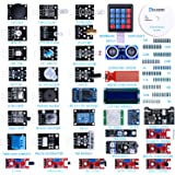 Elegoo Upgraded 37 in 1 Sensor Modules Kit with Tutorial for Arduino UNO R3 MEGA 2560 Nano 2016 new version