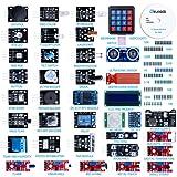 Elegoo Upgraded 37 in 1 Sensor Modules Kit with Tutorial for Arduino UNO R3 MEGA 2560 Nano