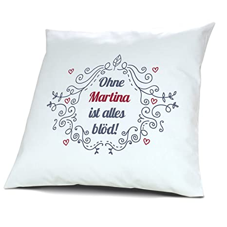 Funda de almohada con diseño de nombres de Martina - diseño ...