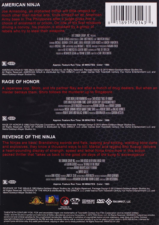 American Ninja & Rage of Honor & Revenge of Ninja Reino ...