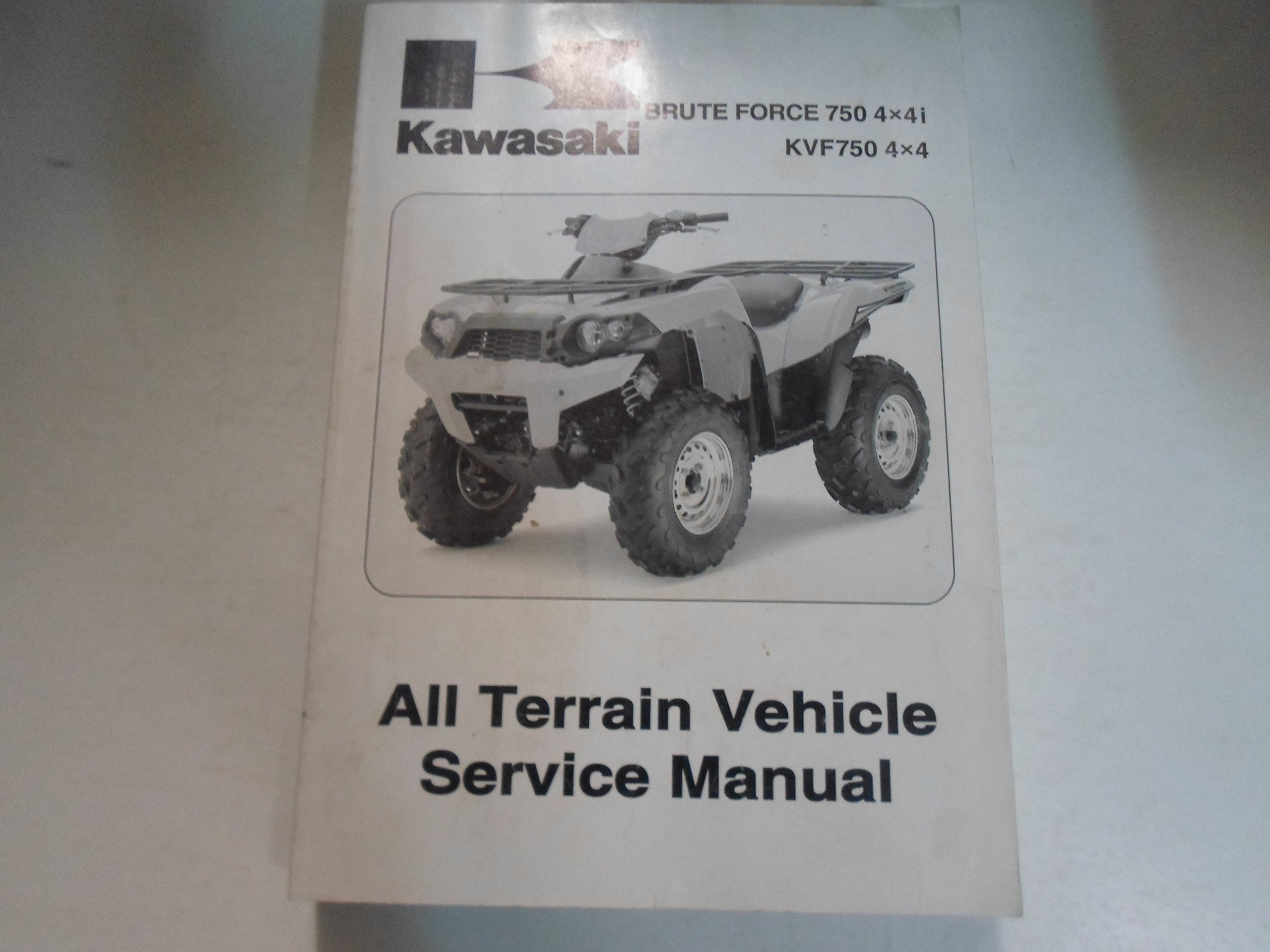 2008 Kawasaki Brute Force 750 4x4i KVF750 4x4 ATV Service Repair Manual  STAINED Paperback – 2007