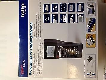 Brother PTH500 - Rotuladora electrónica portátil profesional (conexión PC): Brother: Amazon.es: Informática