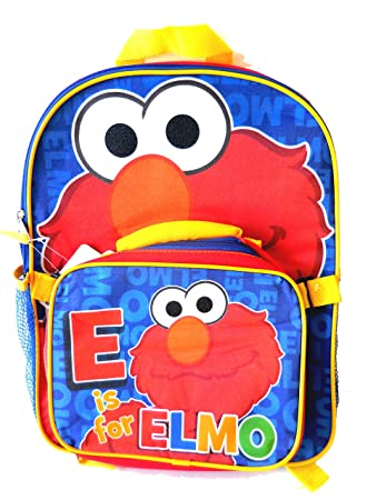 98a4ae794a7f Image Unavailable. Image not available for. Color  Sesame Street Elmo Large  Backpack and Detachable Lunch Kit for Kids ...